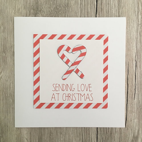 Greetings card - Candy canes