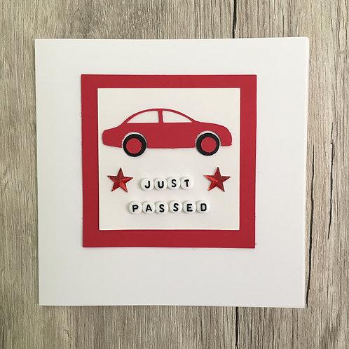 Greetings card - Just Passed