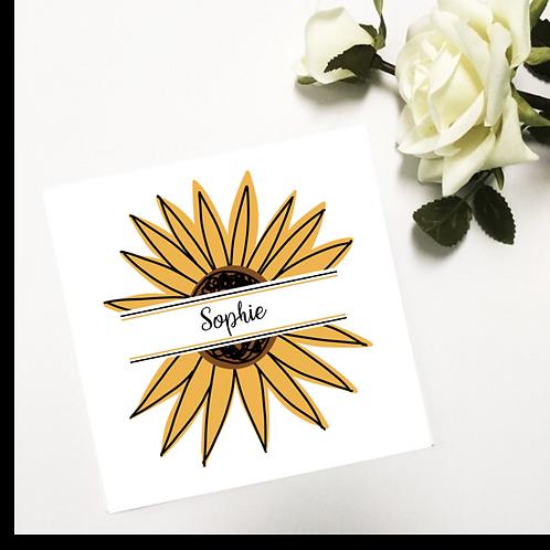 Greetings card - Sunflower