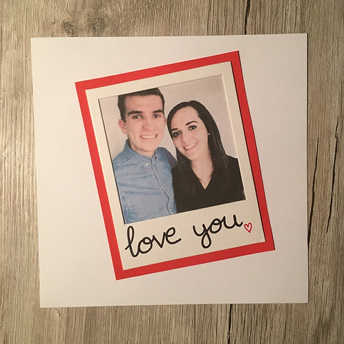 Greetings Card - Polaroid Photo