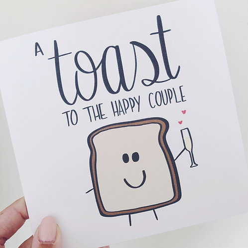 Greetings card - A toast to the happy couple