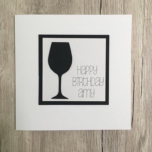 Greetings card - Wine glass