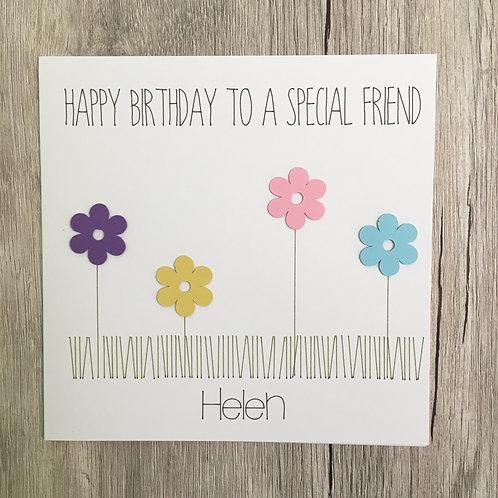 Greetings card - Flowers