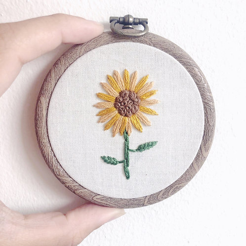 "Mini 3"" Sunflower Hoop"