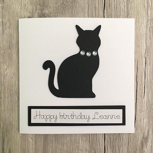 Greetings card - Cat