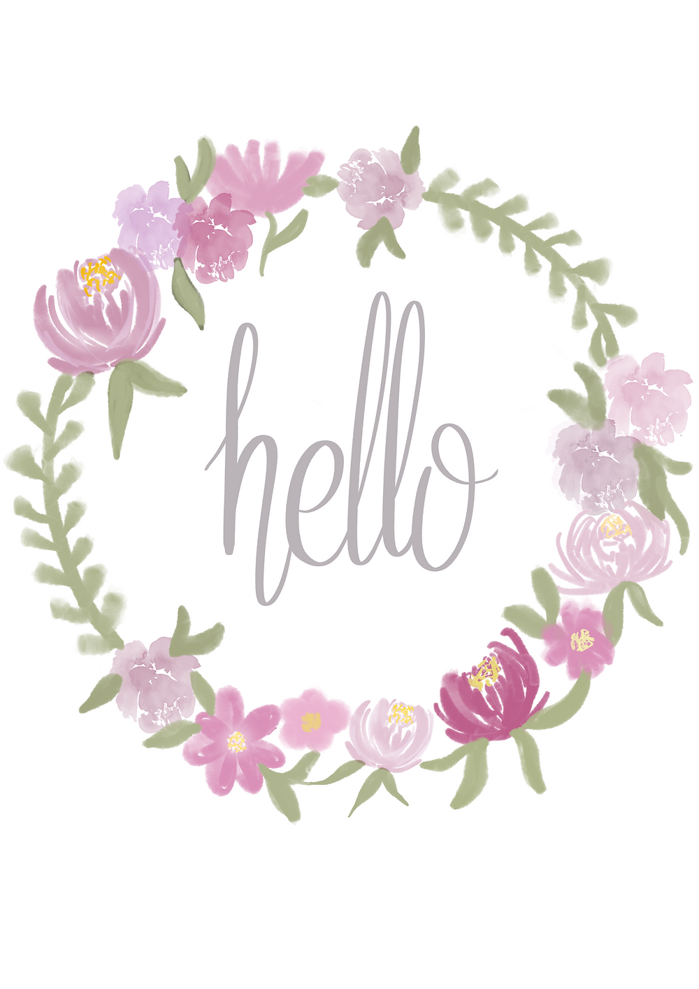 Home Sweet Home Floral Printable