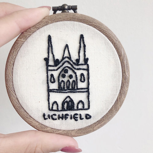 "Mini 3"" Lichfield Cathedral Embroidery Hoop"
