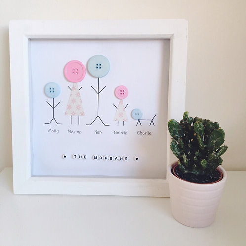 Framed picture - Button family