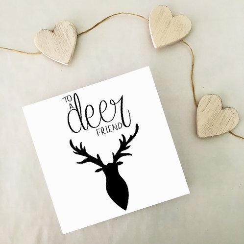 Greetings card - Deer Friend
