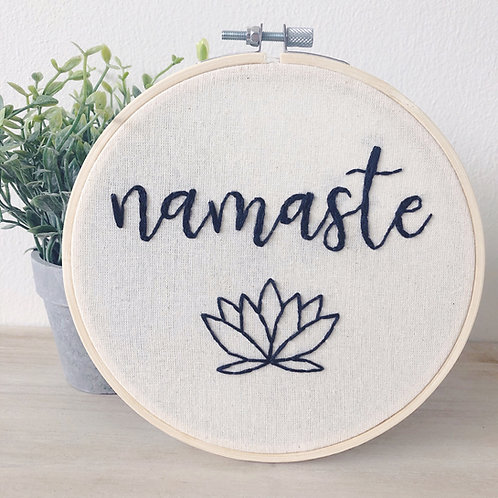 "6"" Embroidery Hoop - Namaste"