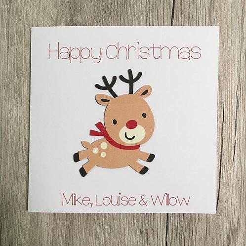 Greetings card - Christmas Reindeer