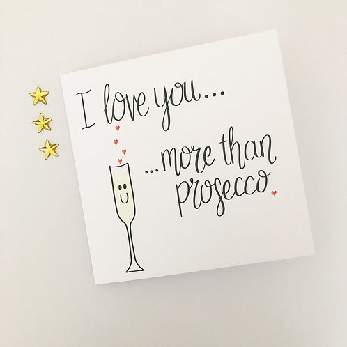 Greetings card - Prosecco