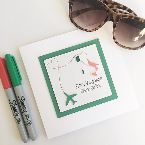 Greetings card - Bon Voyage