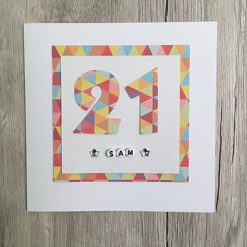 Greetings card - Age birthday