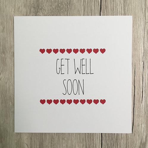 Greetings card - Get Well Soon