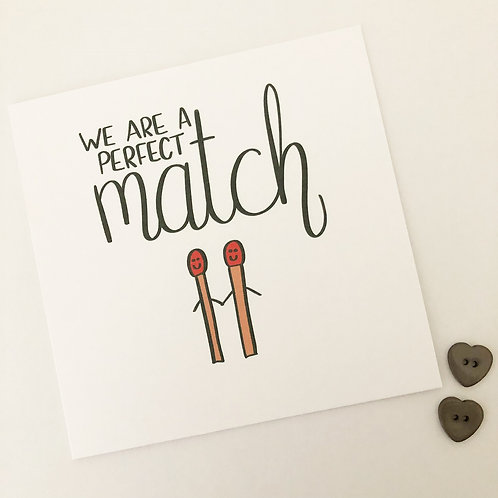Greetings card - Perfect match