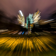 Abstract in Carlton Gardens at night
