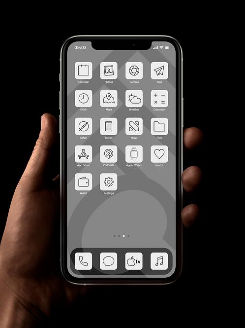 Fulham (Outline) | iOS 14 Custom App Icons | Full Set