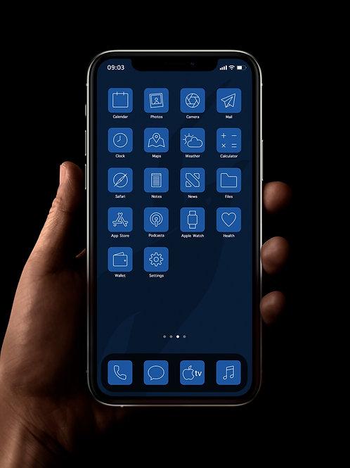 Brighton (Outline) | iOS 14 Custom App Icons | Full Set