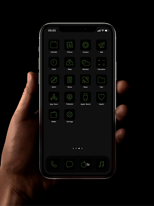 Razer Thin | iOS 14 Custom App Icons | Full Set