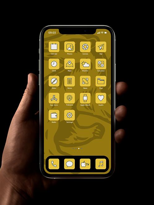 Hufflepuff | iOS 14 Custom App Icons | Full Set