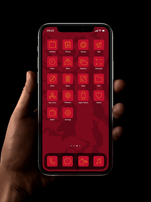 Gryffindor (Outline) | iOS 14 Custom App Icons | Full Set