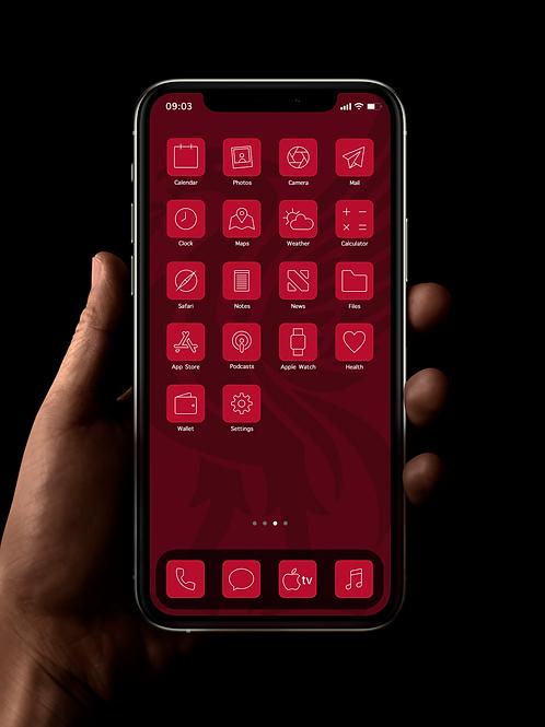 Liverpool (Outline) | iOS 14 Custom App Icons | Full Set