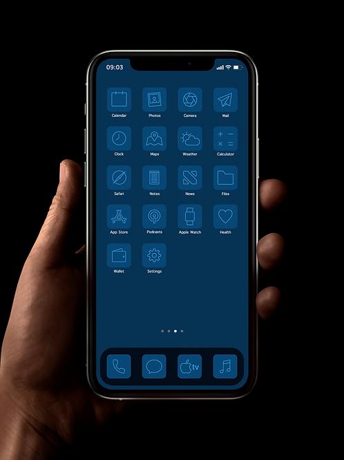 Pantone Classic Blue | iOS 14 Custom App Icons | Full Set