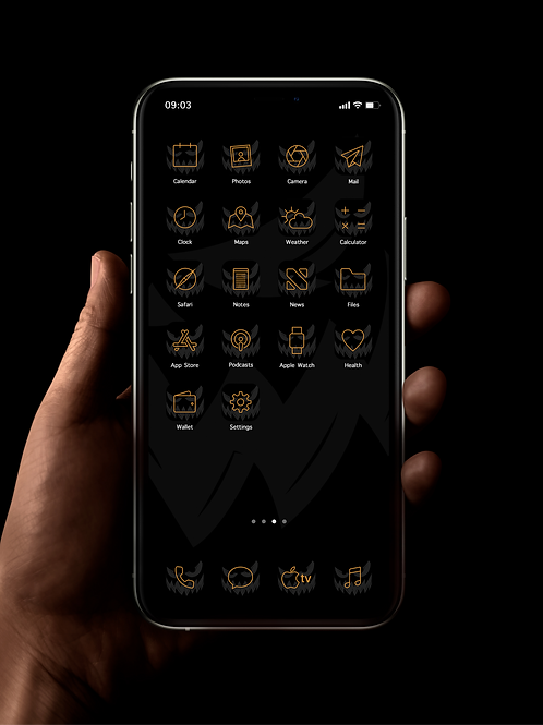 Halloween - Pumpkin King | iOS 14 Custom App Icons | Full Set