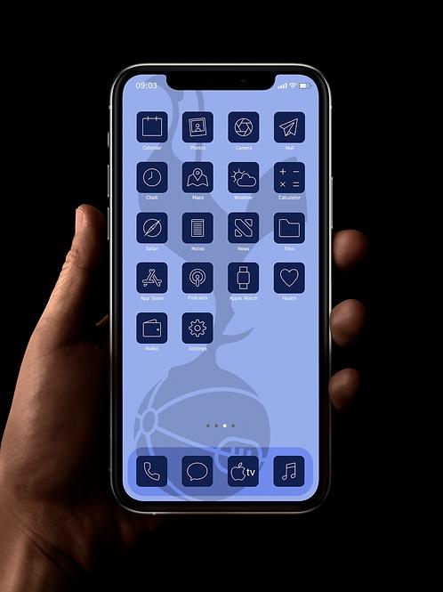 Spurs (Outline) | iOS 14 Custom App Icons | Full Set