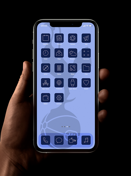 Tottenham Hotspur (Outline) | iOS 14 Custom App Icons | Full Set
