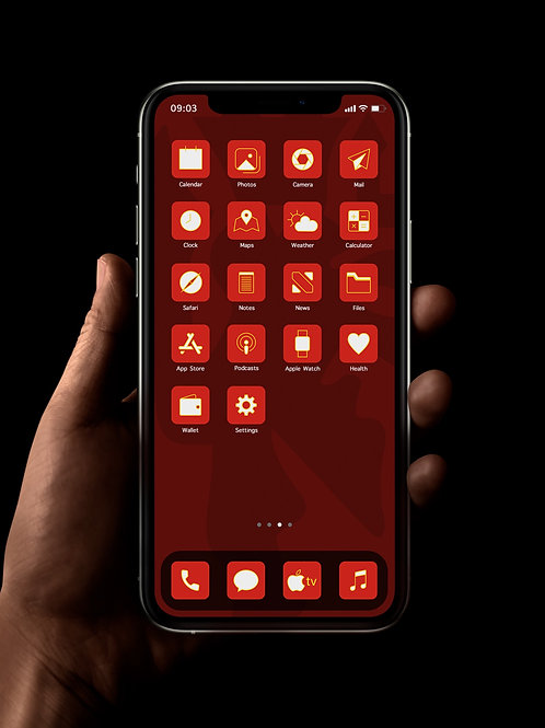 Manchester United (Outline) | iOS 14 Custom App Icons | Full Set