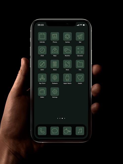 Forest Green | iOS 14 Custom App Icons | Full Set