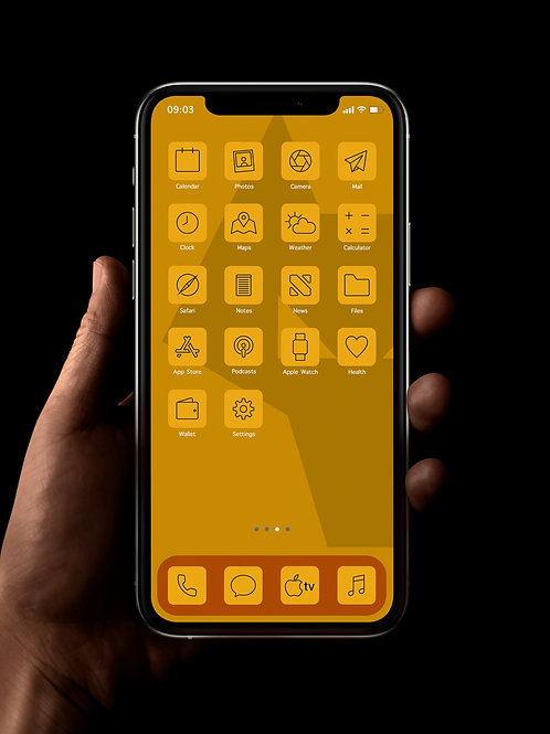 Wolves (Outline) | iOS 14 Custom App Icons | Full Set
