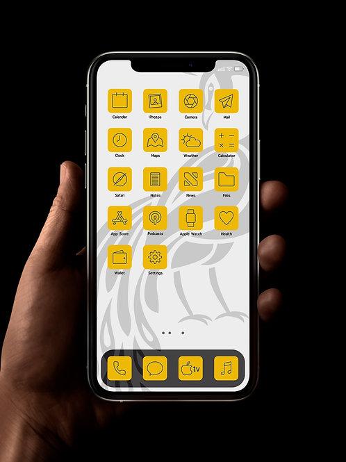 Leeds (Outline) | iOS 14 Custom App Icons | Full Set