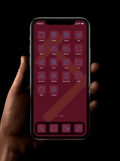 West Ham (Outline) | iOS 14 Custom App Icons | Full Set