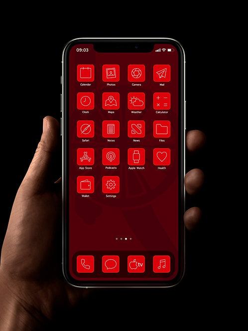 Arsenal (Outline) | iOS 14 Custom App Icons | Full Set