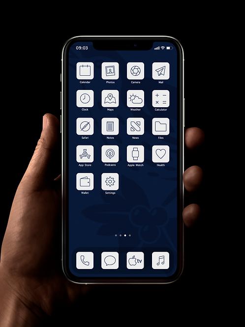 West Brom (Outline) | iOS 14 Custom App Icons | Full Set