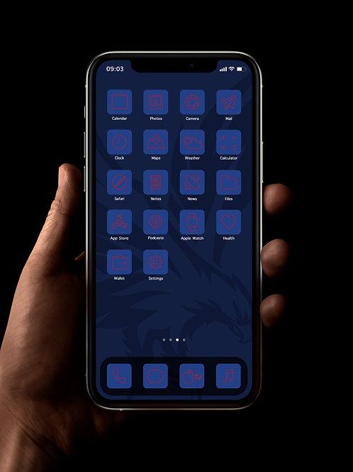 Crystal Palace (Outline) | iOS 14 Custom App Icons | Full Set