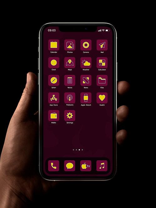 Aston Villa | iOS 14 Custom App Icons | Full Set