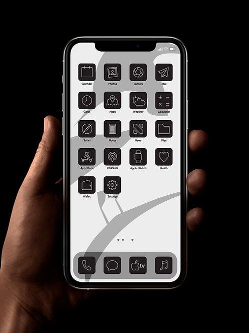 Newcastle (Outline) | iOS 14 Custom App Icons | Full Set