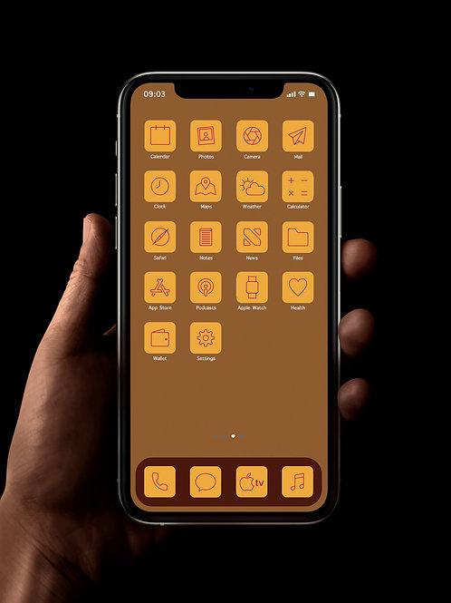 Orange Citrus | iOS 14 Custom App Icons | Full Set