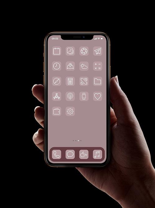 Classic Pink | iOS 14 Custom App Icons | Full Set