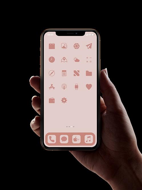 Blush Pink | iOS 14 Custom App Icons | Full Set