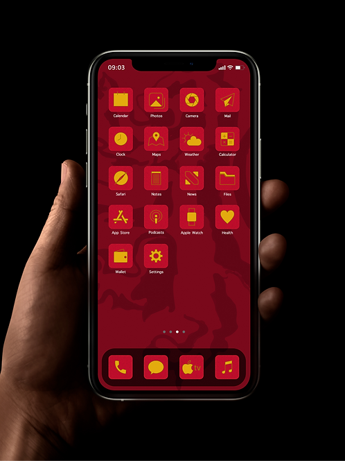 Gryffindor | iOS 14 Custom App Icons | Full Set