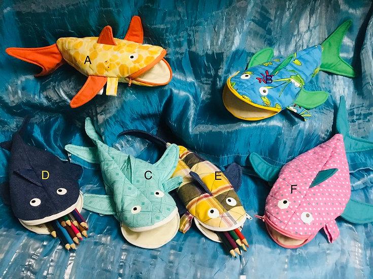 Smile Shark Pencil Bag