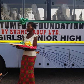 Otumfuo Charity Foundation Donates Bus And ItemsTo Wesley Girls' High School