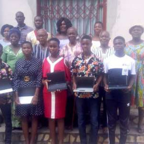 Sokode-Bagble E.P Church supports selected SHS students with laptops