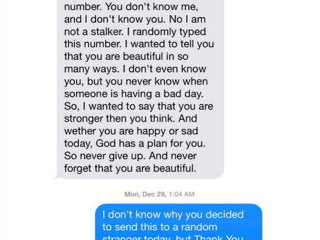 TEXT MESSAGE FROM GOD