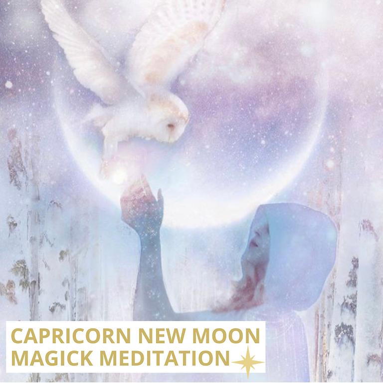 Capricorn New Moon Magick Meditation: Enchanted Manifesting (Livestream)